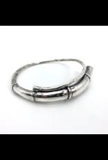 Kai Wolter Single Black Tendril Bangle Bracelet in Silver