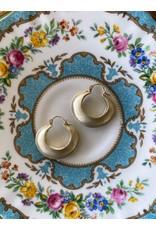 Lisa Ziff Seam Hoop Earrings in 10k Yellow Gold