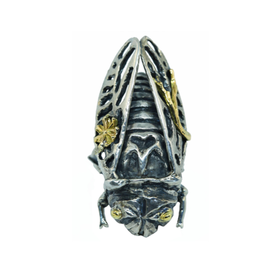 Alexis Pavlantos Cicada Ring in Silver with 14k Yellow Gold