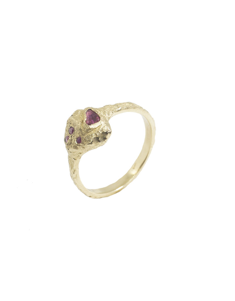 Alexis Pavlantos Petra Ruby Ring in 14k Yellow Gold with Rubies