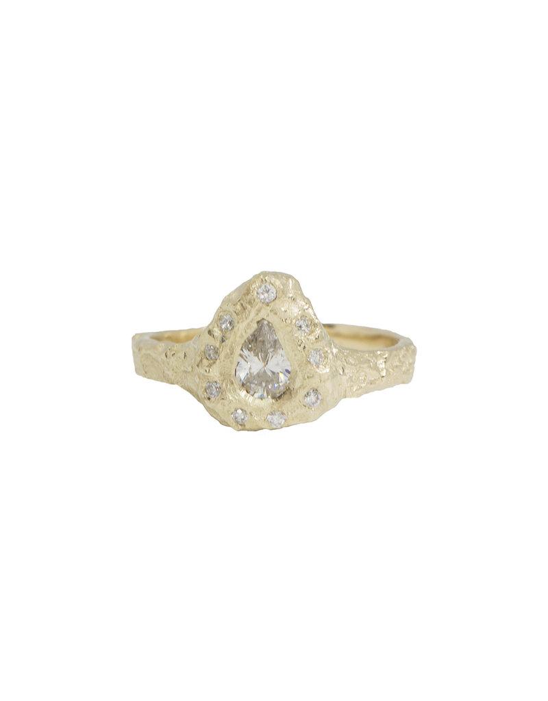 Alexis Pavlantos Pleochroic Diamond Halo Ring in 14k Yellow Gold with Diamonds