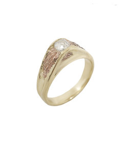 Alexis Pavlantos Women's Metamorphic Ring in 14k Yellow Gold with Natural Diamond