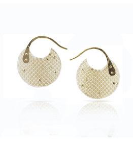 Luana Coonen Extra Small Snakeskin Encasement Hoop Earrings