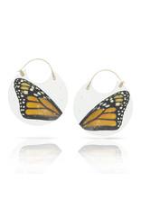 Luana Coonen Larch Monarch Wing Encasement Hoop Earrings