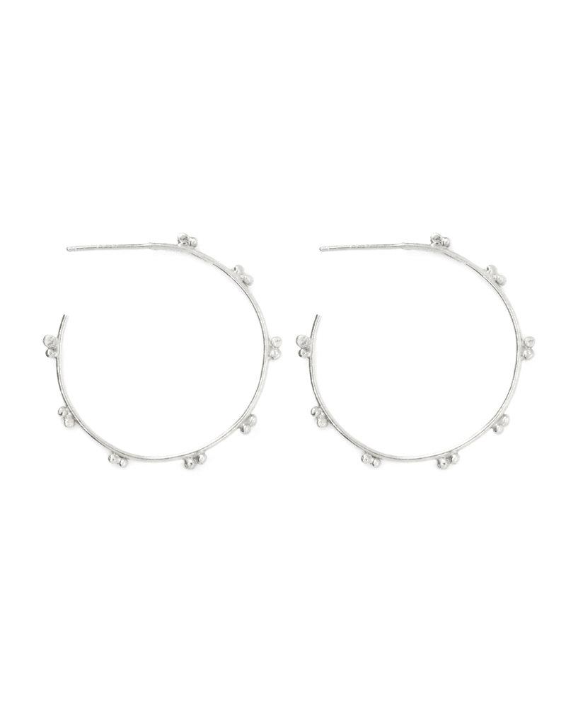 ladha by Lindsay Knox Marais Hoop Earrings in Silver