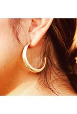 ladha by Lindsay Knox Reyes Carved Hoop Earrings in Bronze