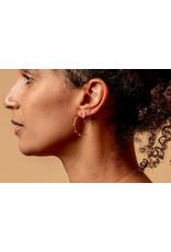 ladha by Lindsay Knox Mini Marais Hoop Earrings in Silver