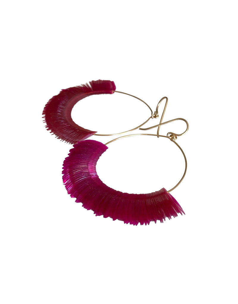 Peony Marquise Hoop Earrings