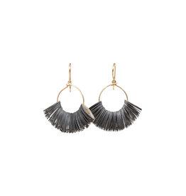 Small Salome Sequin Hoop Earrings