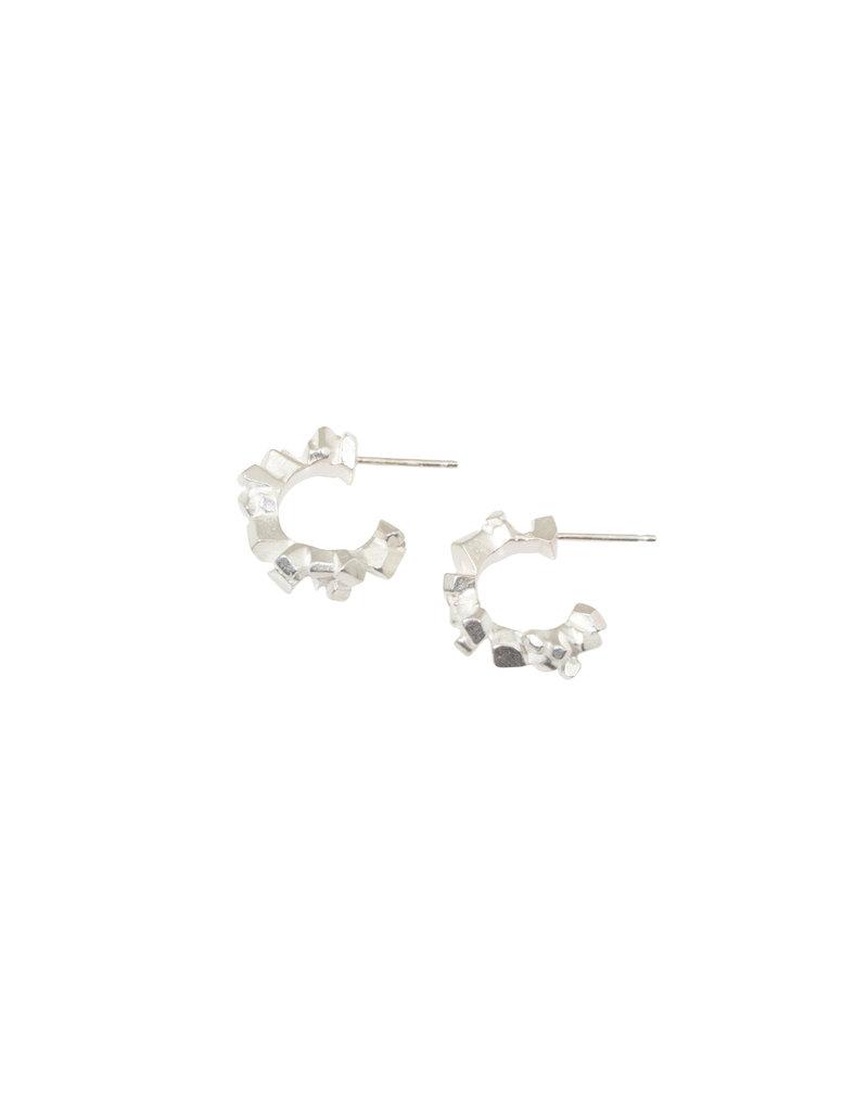 Super Fine Huggie Hoop Earrings in Silver