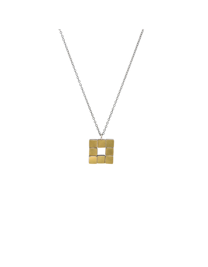 Square Necklace in 22k Yellow Gold