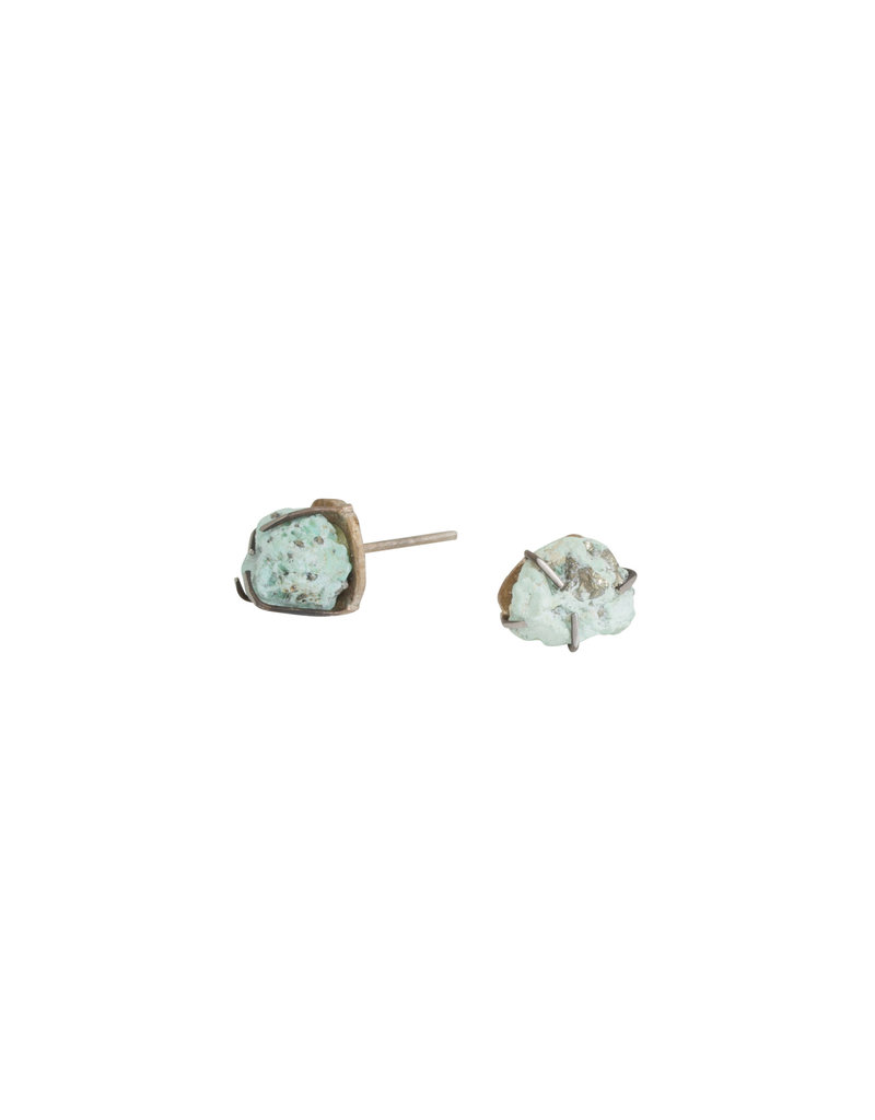 Colorado Turquoise Post Earrings in Silver