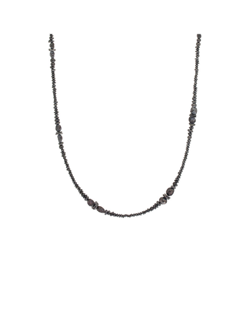 Seed Necklace in Oxidized Silver