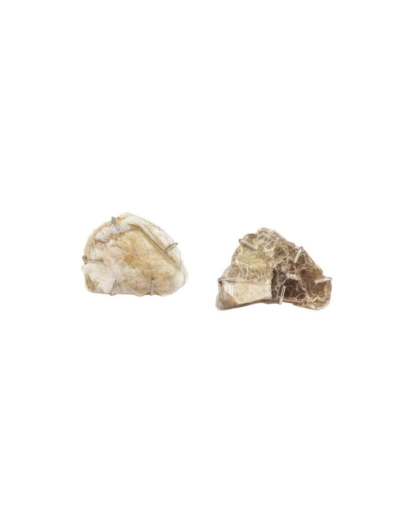 Mica Post Earring in Silver