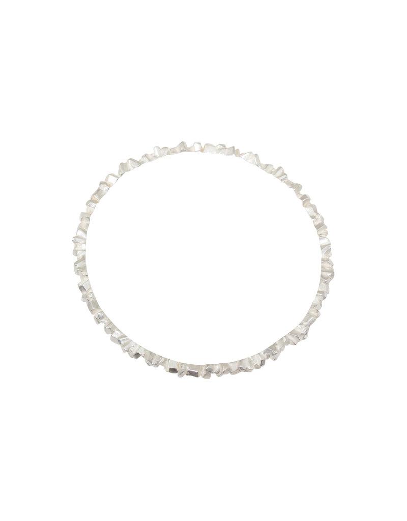Super Fine Bangle Bracelet in Silver