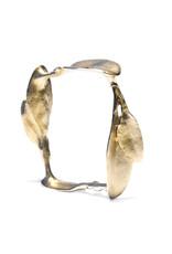 Square Leaves Bracelet in Brass