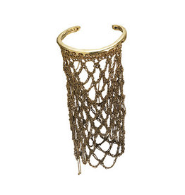 Slide-On Netted Sleeve in 18k Vermeil and Brass