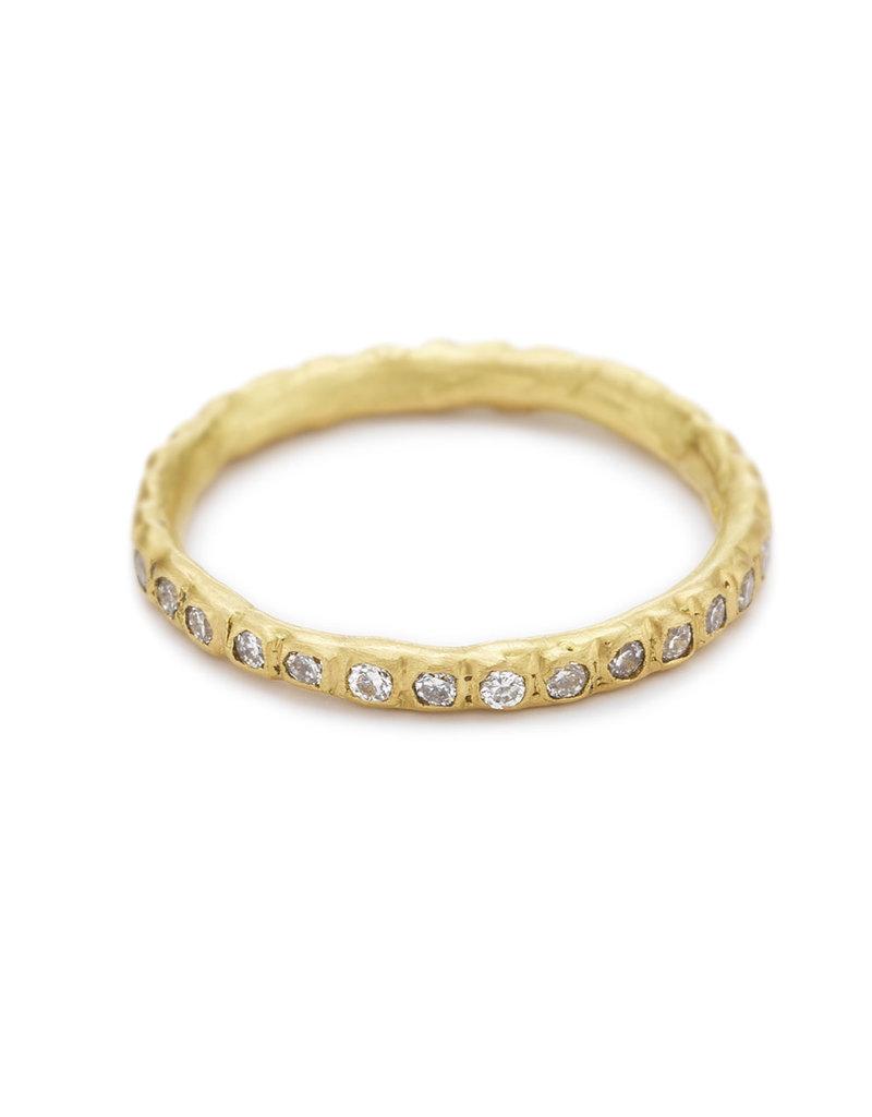 Diamond Eternity Band in 18k Yellow Gold