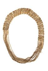 Buxom Necklace in Oxidized 18k Gold Vermeil