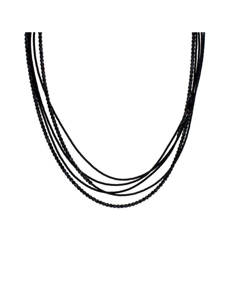Deco Sweep Necklace in Black