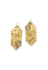 Maral Rapp Delicate Gold and Black Mesh Earrings