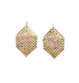 Maral Rapp Neon Pink Splash Mesh Earrings