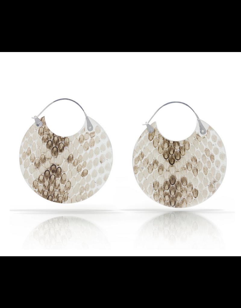 Luana Coonen Large Snakeskin Encasement Hoop Earrings