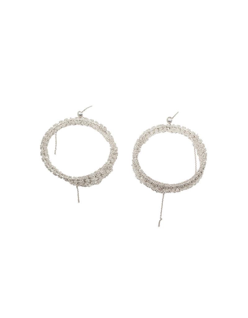 Hi Noon Earrings in Silver