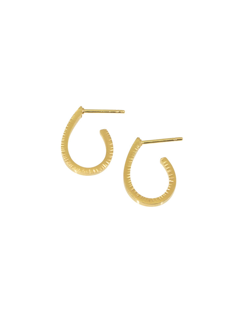 Sam Woehrmann Drop Hoop Earrings in 18k Yellow Gold