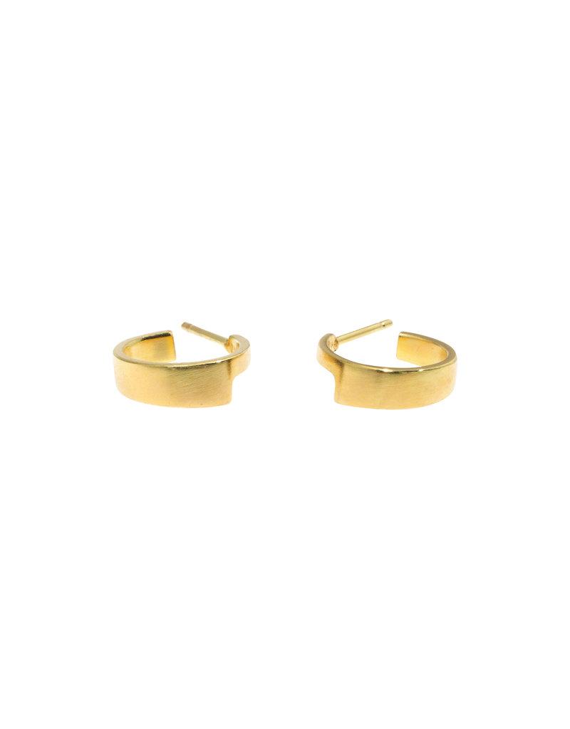 Sam Woehrmann Small Wedge Hoop Earrings in 18k Yellow Gold