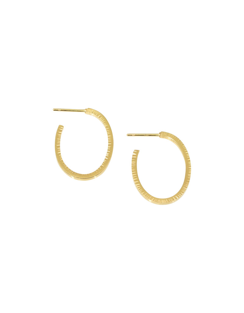 Sam Woehrmann Oval Hoop Earrings in 18k Yellow Gold