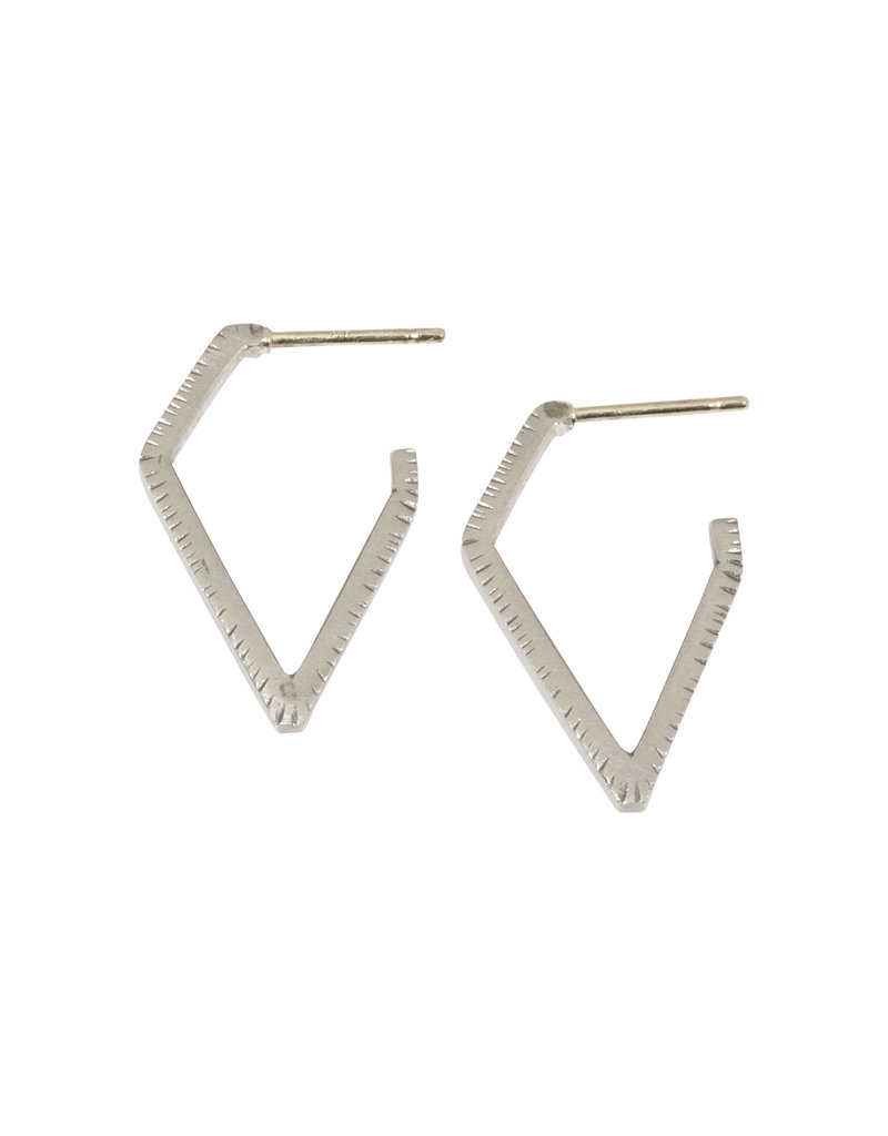 Sam Woehrmann Geometric Hoop Earrings in Silver