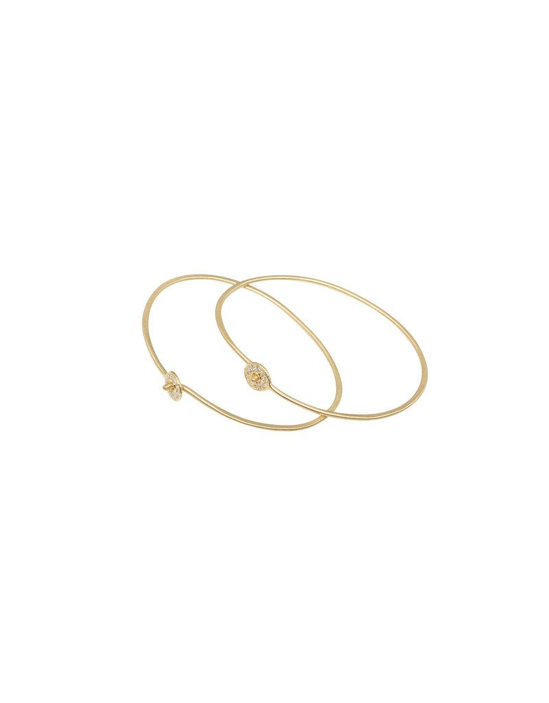 Lisa Ziff In The Loop Hoop Earrings with Diamonds in 18k Yellow Gold
