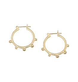 Lisa Ziff Alfia Hoop Earrings in 10k Yellow Gold