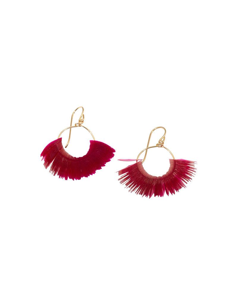 Small Peony Marquise Hoop Earrings