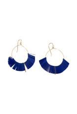 Cobalt Arch Hoop Earrings