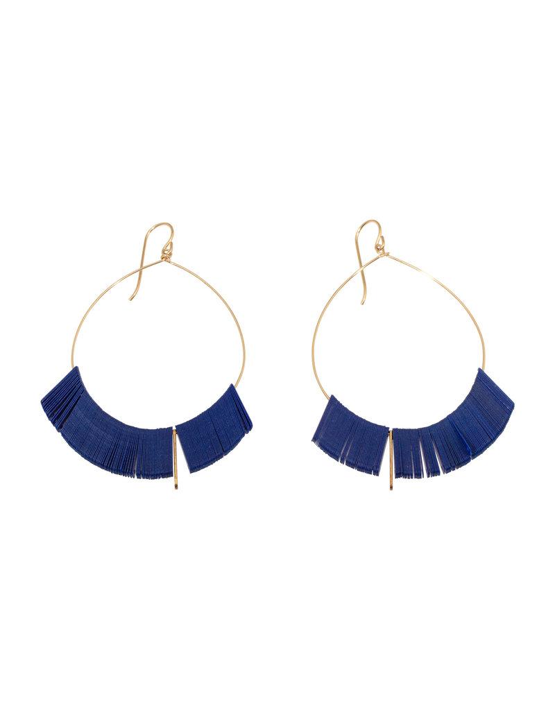 Large Cobalt Arch Hoop Earrings