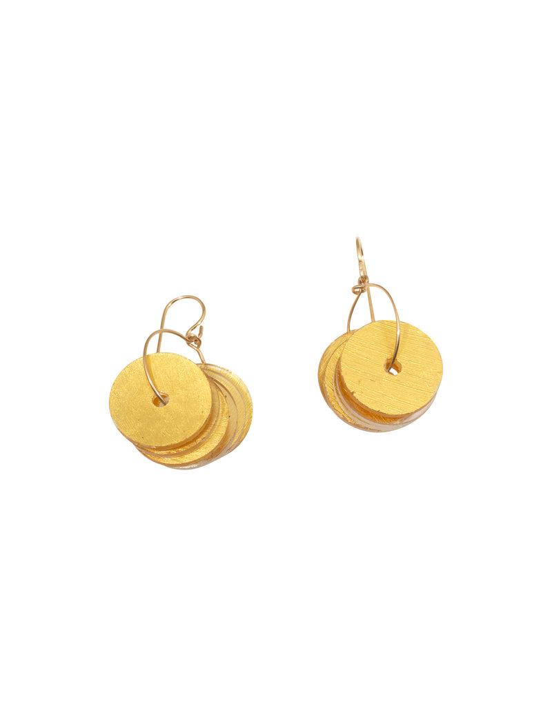 Small Midas Disc Hoop Earrings