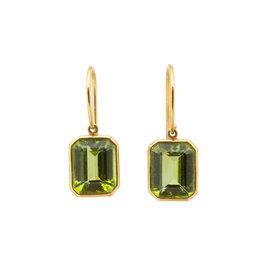 Estate Estate Peridot Earrings in 18k Yellow Gold