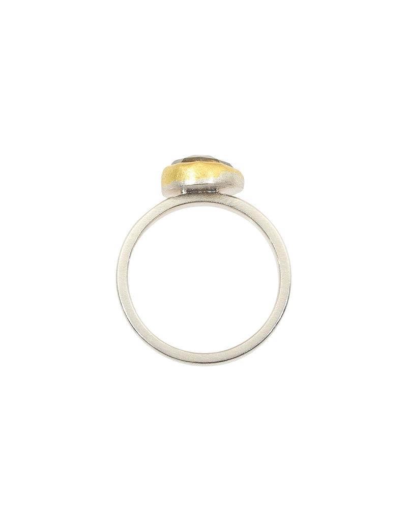 Sam Woehrmann Montana Sapphire Ring in Silver & 22k Gold