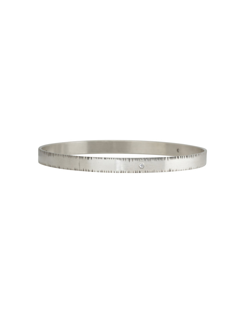 Sam Woehrmann Diamond Notched Bangle in Silver