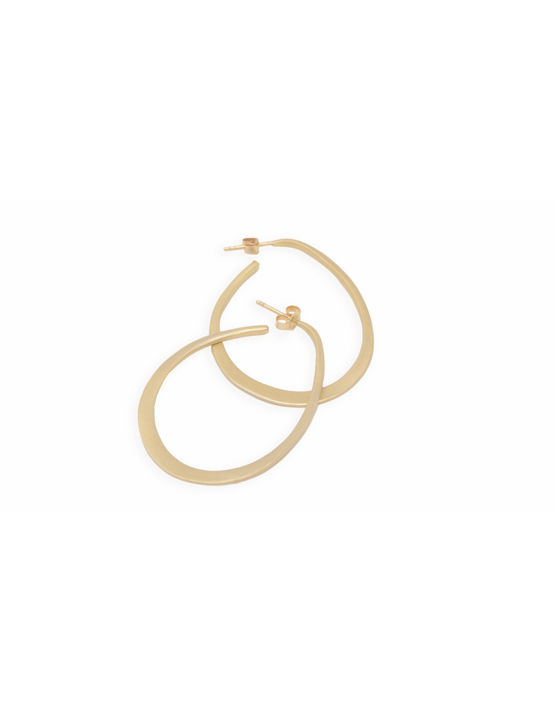 Lisa Ziff Uccello Hoop Earrings in 10k Yellow Gold