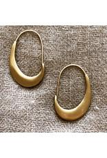 Lisa Ziff Crescent Hoop Earrings in 10k Yellow Gold