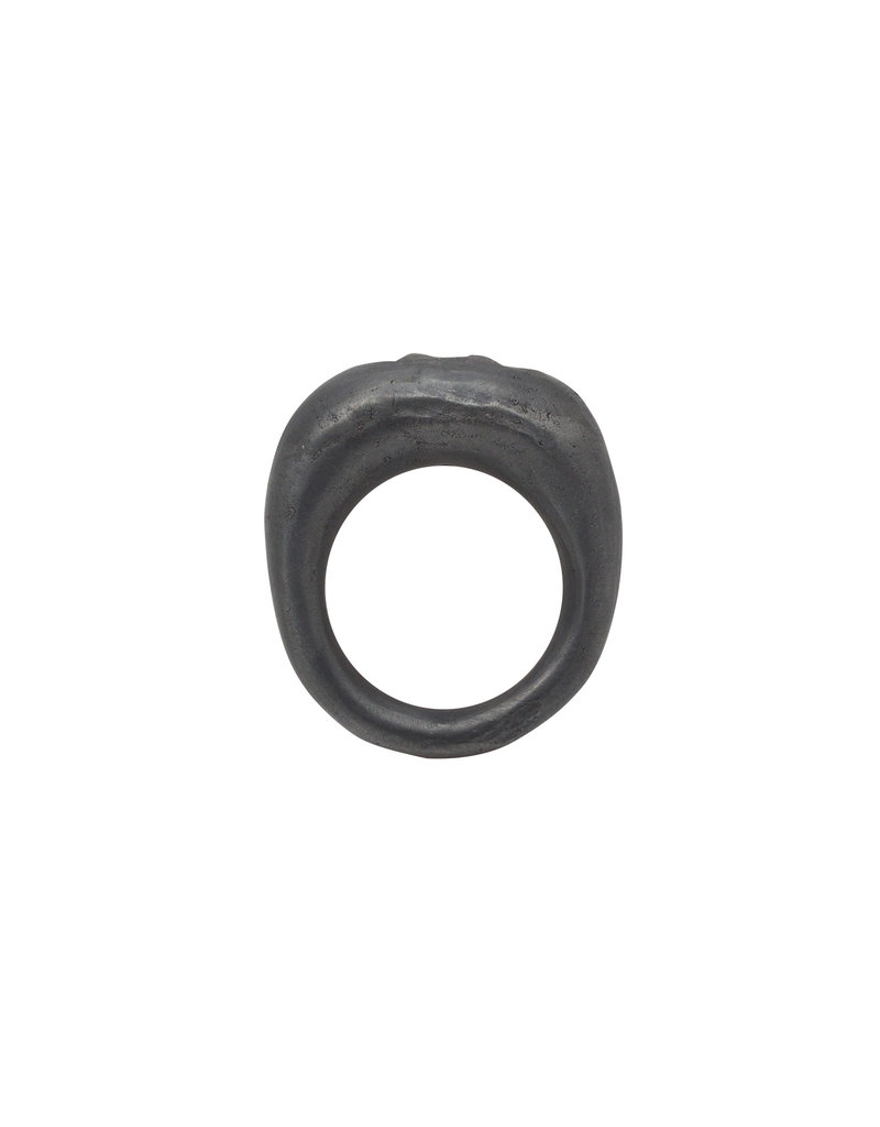 Parts of Four Mountain Ring with Diamond Slabs in Oxidized Silver