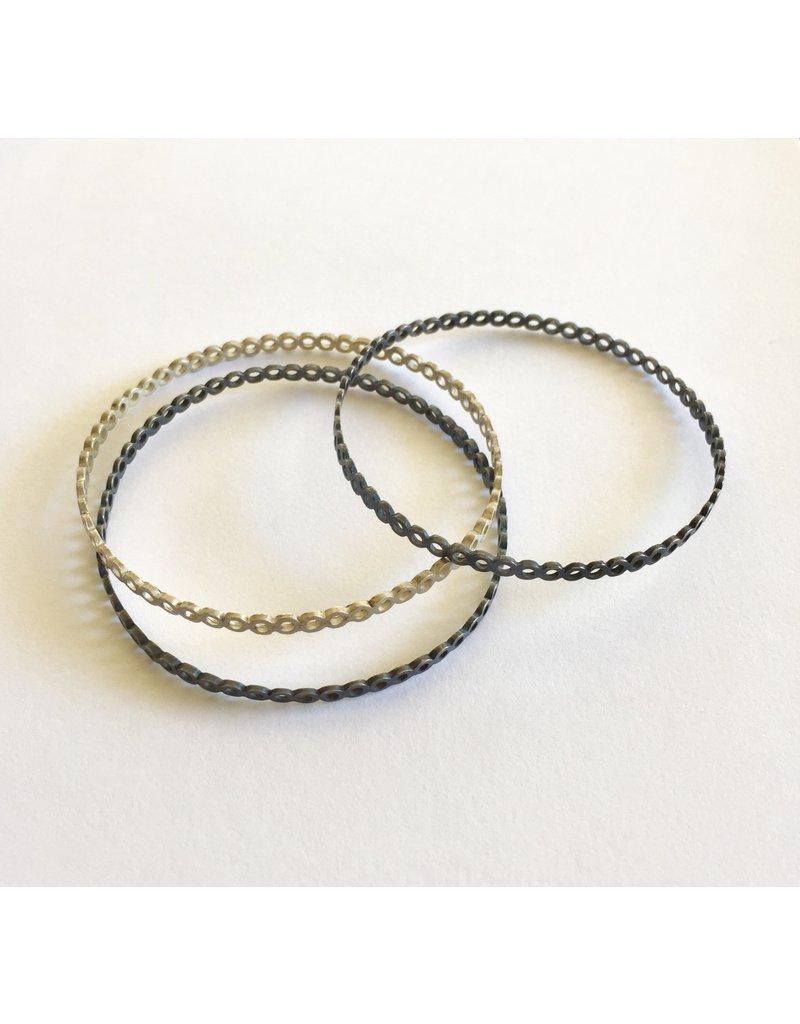 *Small Circles Bangle in Oxidized Silver