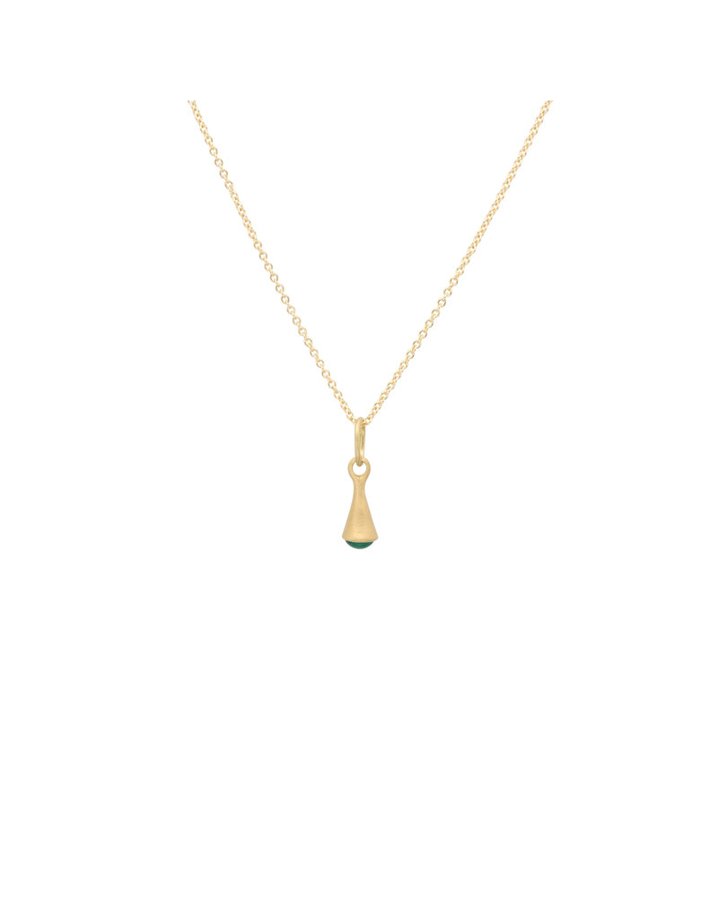 Marian Maurer City Drop Pendant with Emerald in 18k Yellow Gold