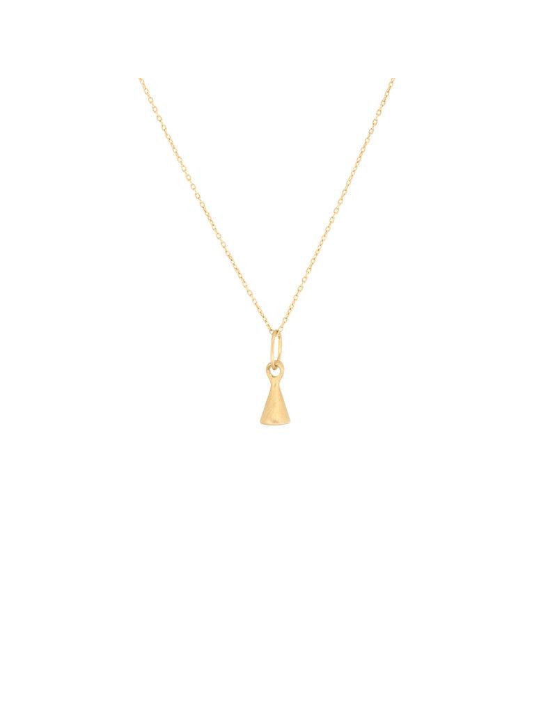 Marian Maurer City Drop Pendant with Rosecut Diamond in 18k Yellow Gold