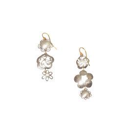 Judy Geib Flowery Earrings in Silver