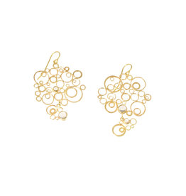 Judy Geib Bubbly Earrings with Moonstones in 18k Yellow Gold