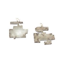 Judy Geib Silver Shape Earrings
